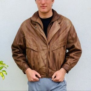 Top Euro Mond Cowhide Leather Jacket Size XL